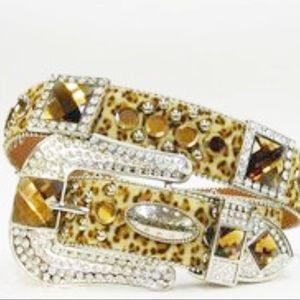 NWT | Atlas Cheetah Bling Belt